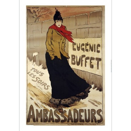 "LUC METIVET ""Ambassadeurs, Eugenie Buffet"" print NEW various SIZES available"