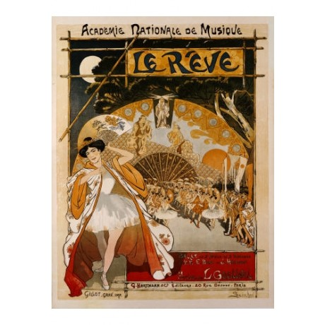 "THEOPHILE ALEXANDRE STEINLEN ""Le Reve"" print NEW choose SIZE, from 55cm up, NEW"