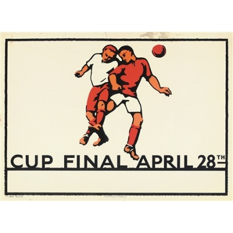 CUP FINAL APRIL 28TH football bolton west ham CANVAS print of vintage poster