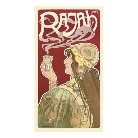 HENRI PRIVAT-LIVEMONT Rajah steaming cup of tea CANVAS print of vintage poster