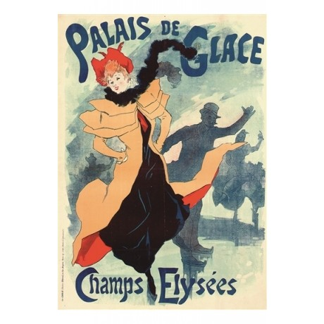 "JULES CHERET ""Palais de Glace"" ice skating paris CANVAS print of vintage poster"