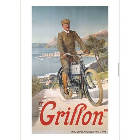 "HUGO F D'ALESI ""Griffon"" print NEW ON CANVAS, stunning! various SIZES, BRAND NEW"