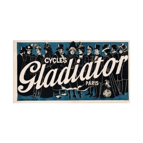 "PAOLO HENRI ""Cycles Gladiator"" print NEW ON CANVAS choose SIZE, from 55cm up"