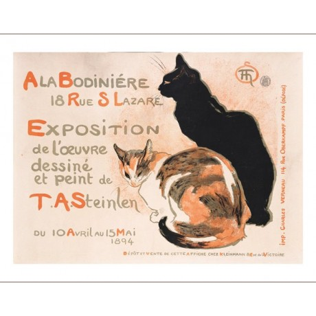 "THEOPHILE ALEXANDRE STEINLEN ""A La Bodiniere"" print various SIZES available, NEW"
