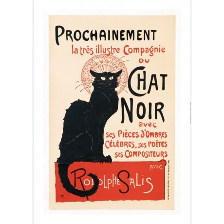 "THEOPHILE ALEXANDRE STEINLEN ""Chat Noir"" PRINT NEW choose SIZE, from 55cm up"