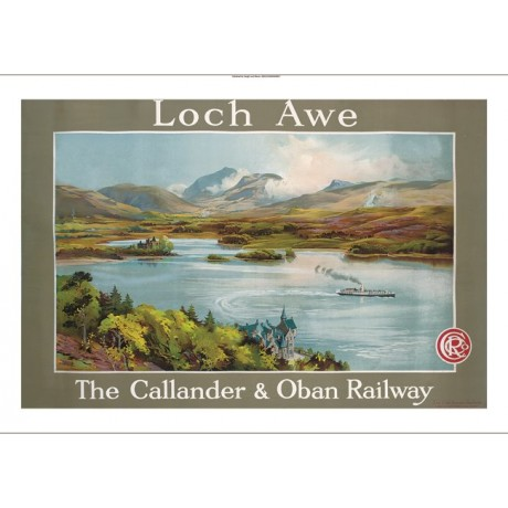 """Loch Awe The Callander & Oban Railway"" advert CANVAS various SIZES, BRAND NEW"