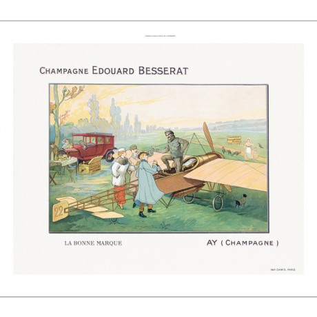 Champagne Edouard Besserat airplane car ON CANVAS choose SIZE, from 55cm up, NEW
