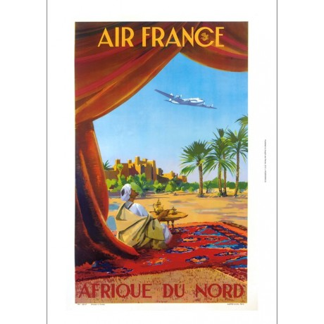 Air France, Afrique du Nord travel advert ON CANVAS various SIZES available, NEW