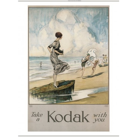 "CLAUDE SHEPPERSON ""Take A Kodak With You"" women beach various SIZES, BRAND NEW"