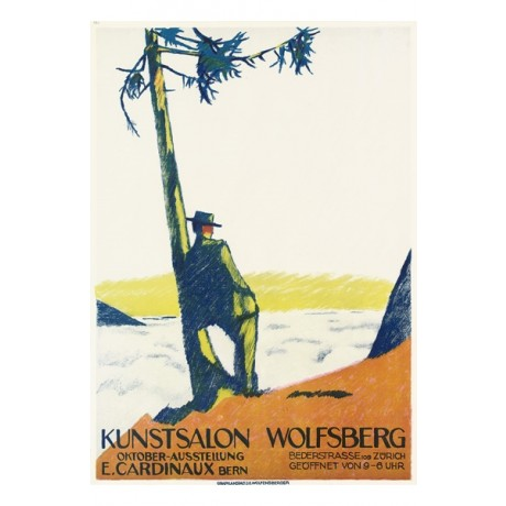 "EMIL CARDINAUX ""Kunstsalon Wolfsberg"" man landscape various SIZES available, NEW"