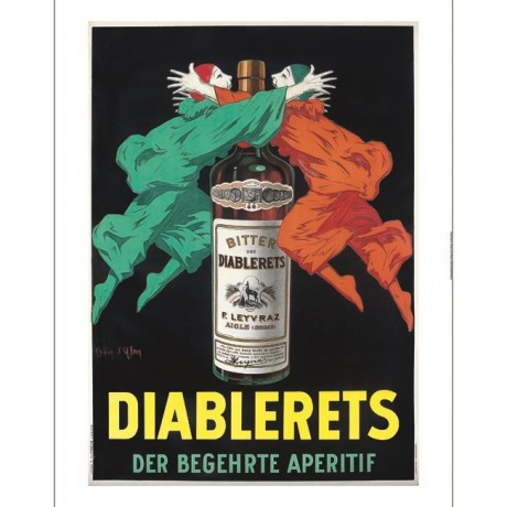 "Jean D'ylen ""Diablerets"" alcohol drink advert CANVAS various SIZES available"