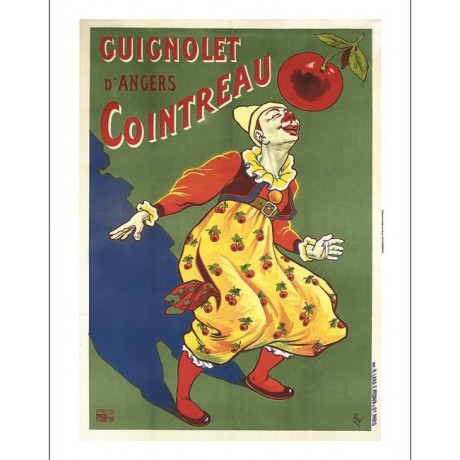 "EUGENE OGE ""Guignolet d'Angers Cointreau"" advert CANVAS various SIZES, BRAND NEW"
