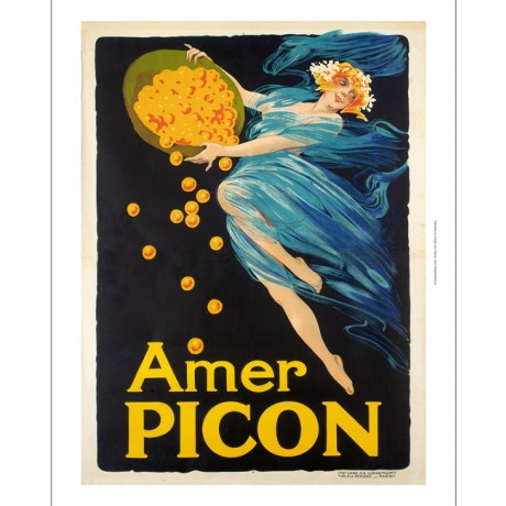 Amer Picon orange liqueur alcohol ADVERT on CANVAS choose SIZE, from 55cm up