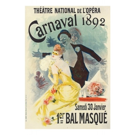 "JULES CHERET ""Theatre Nationale de l'Opera Carnaval"" various SIZES available"
