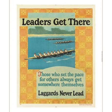 Leaders Get There motivational poster rowing CANVAS various SIZES available, NEW