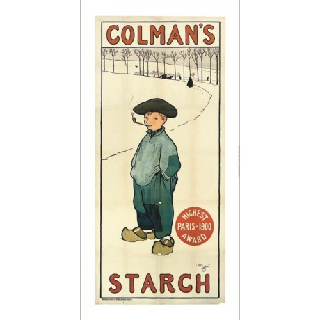 "CECIL ALDIN ""Colman's Starch"" advert boy pipe CANVAS various SIZES available"