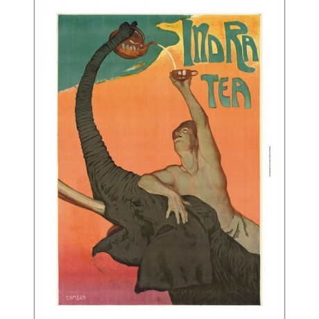 "GLAUCO CAMBON ""Indra Tea"" elephant teapot CANVAS choose SIZE, from 55cm up, NEW"
