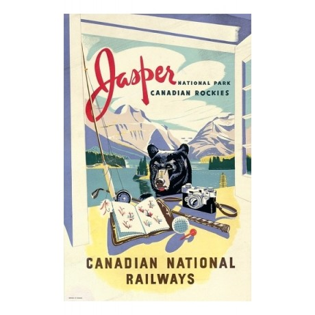 Jaspar Canadian National Railways bear rockies CANVAS various SIZES, BRAND NEW