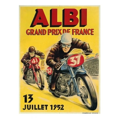 Albi, Grand Prix de France motorbike racing CANVAS choose SIZE, from 55cm up