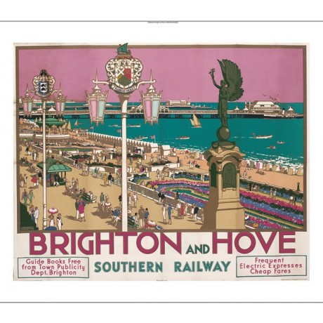"KENNETH SHOESMITH ""Brighton and Hove"" beach promenade various SIZES, BRAND NEW"
