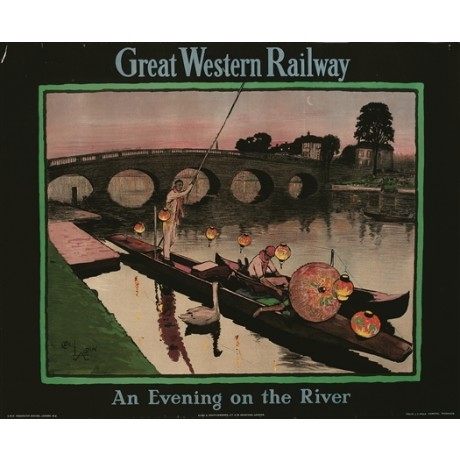 "CECIL ALDIN ""Great Western Railway"" chinese lanterns CANVAS print of old poster"
