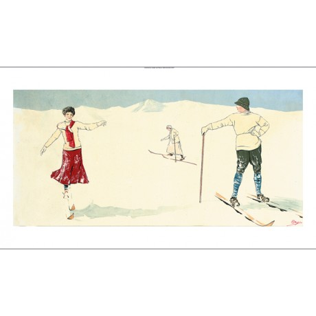 "CARLO PELLEGRINI ""The Waiting Game"" skiing NEW CANVAS various SIZES, BRAND NEW"