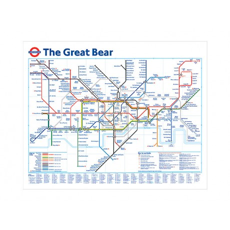 "SIMON PATTERSON ""The Great Bear"" underground map PRINT SIZE:60cm x 80cm NEW"