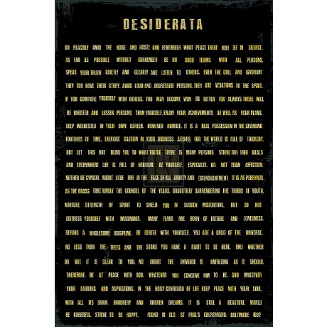 THE VINTAGE COLLECTION Desiderata SIZE:60cm x 40cm BRAND NEW art print