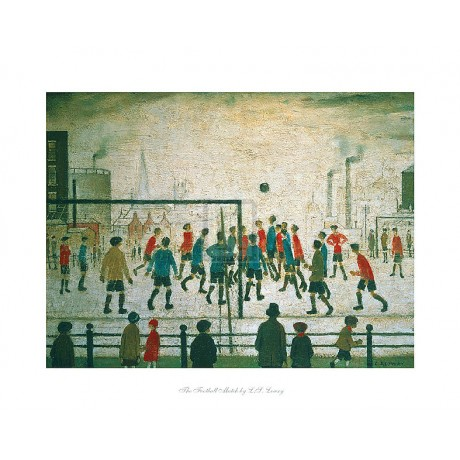 L.S. LOWRY The Football Match SIZE:40cm x 50cm BRAND NEW art print SEE OUR SHOP