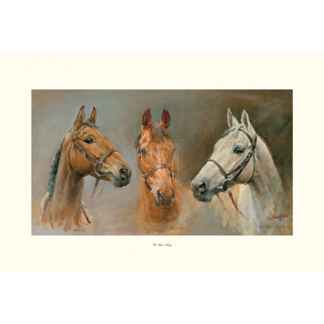 """CRAWFORD """"We Three Kings"""" red rum desert orchid arkle! SIZE:53cm x 79cm NEW"""